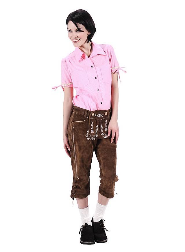 Pantalon Cuir Femme Marron En Genou Longueur O80wknP
